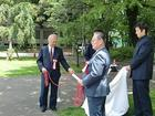 旧・柔剣道場跡地記念サイン板お披露目式
