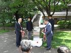 旧柔剣道場跡地記念サイン板お披露目式