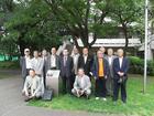 島津名誉会長 旧・柔剣道場跡地記念サイン板を見学