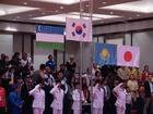 アジアパラリンピック永井君が掲げた日の丸
